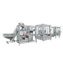 Production line for Bulk bottle unscrabmler machine filling machine capping machine